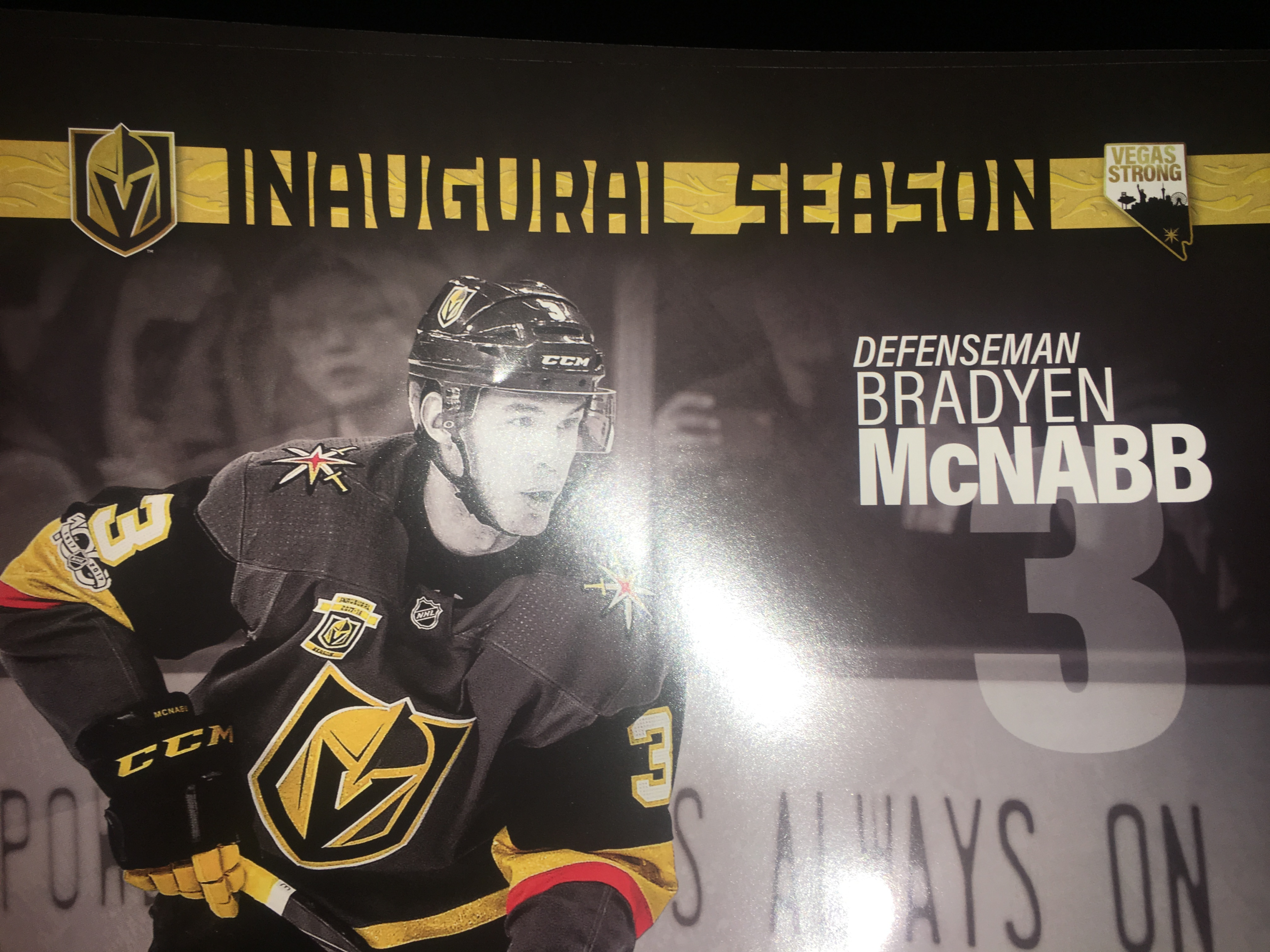 A Proofreader Didnt Catch The Spelling Of Brayden McNabb On Free Game Poster Tonight