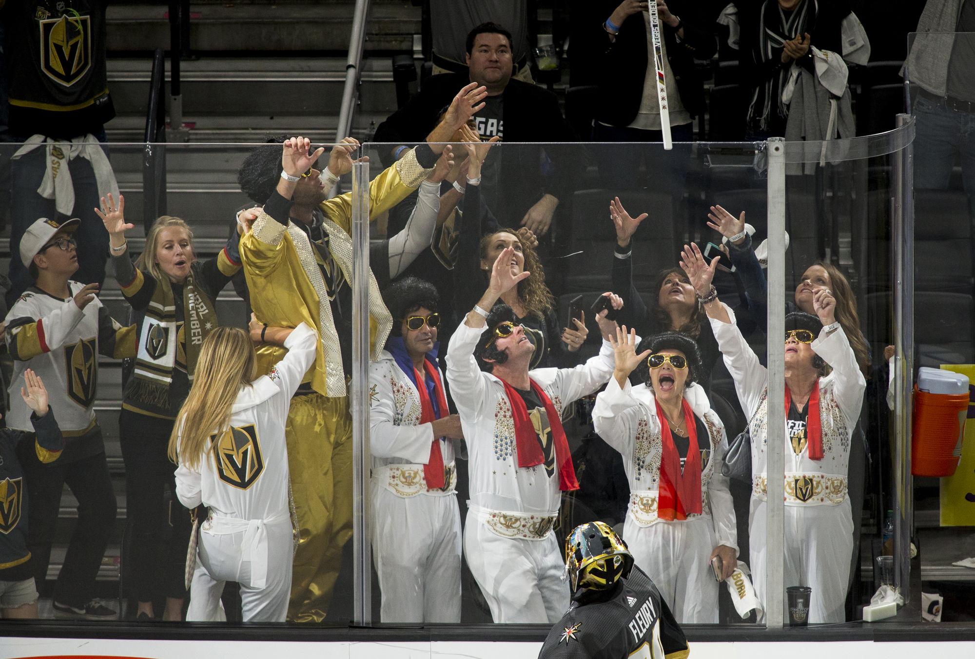 Image result for las vegas golden knights  elvis fans