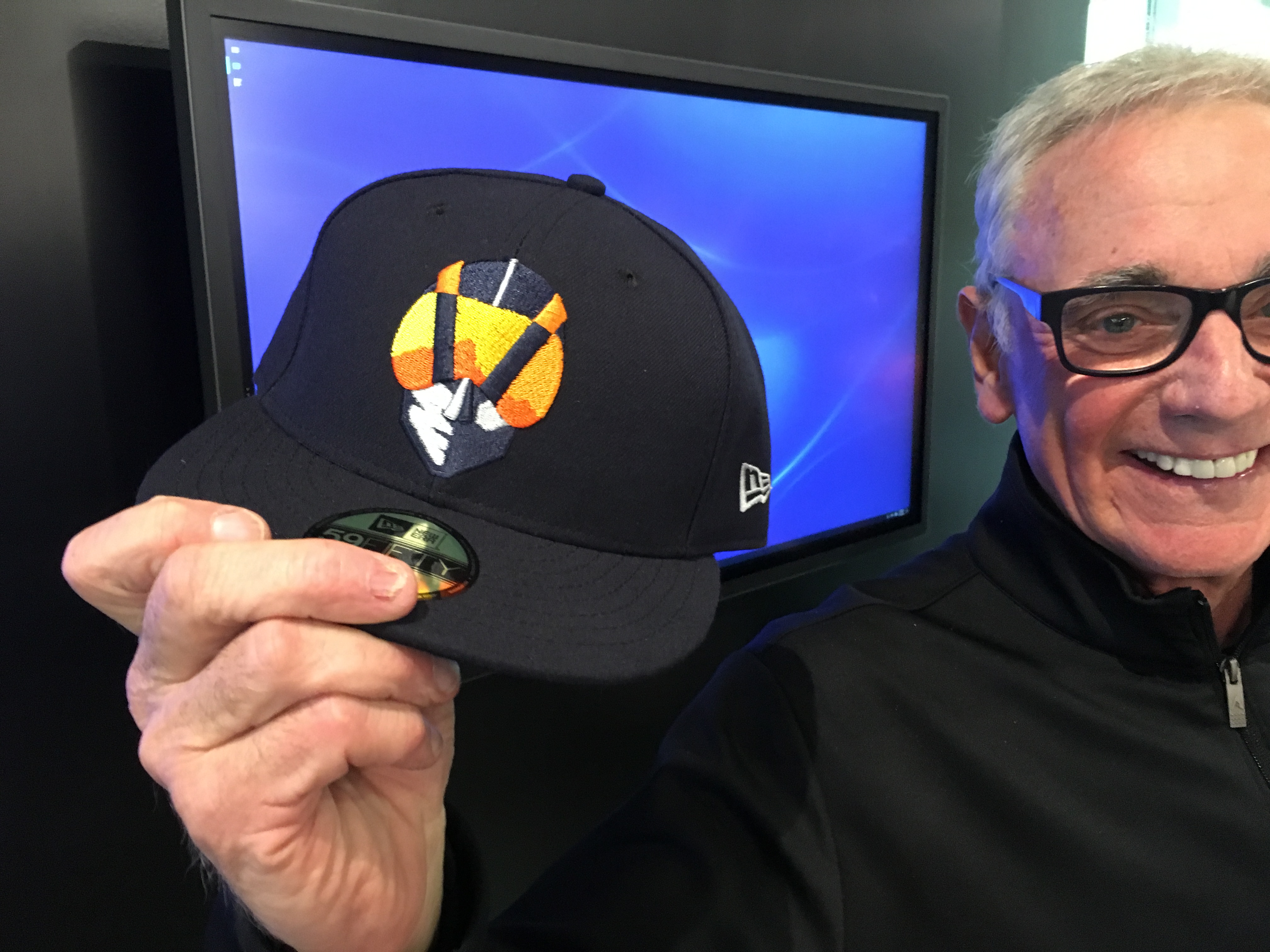 dc1508cd6 The Las Vegas Aviators' new logo -- hard to figure it out at first glance.