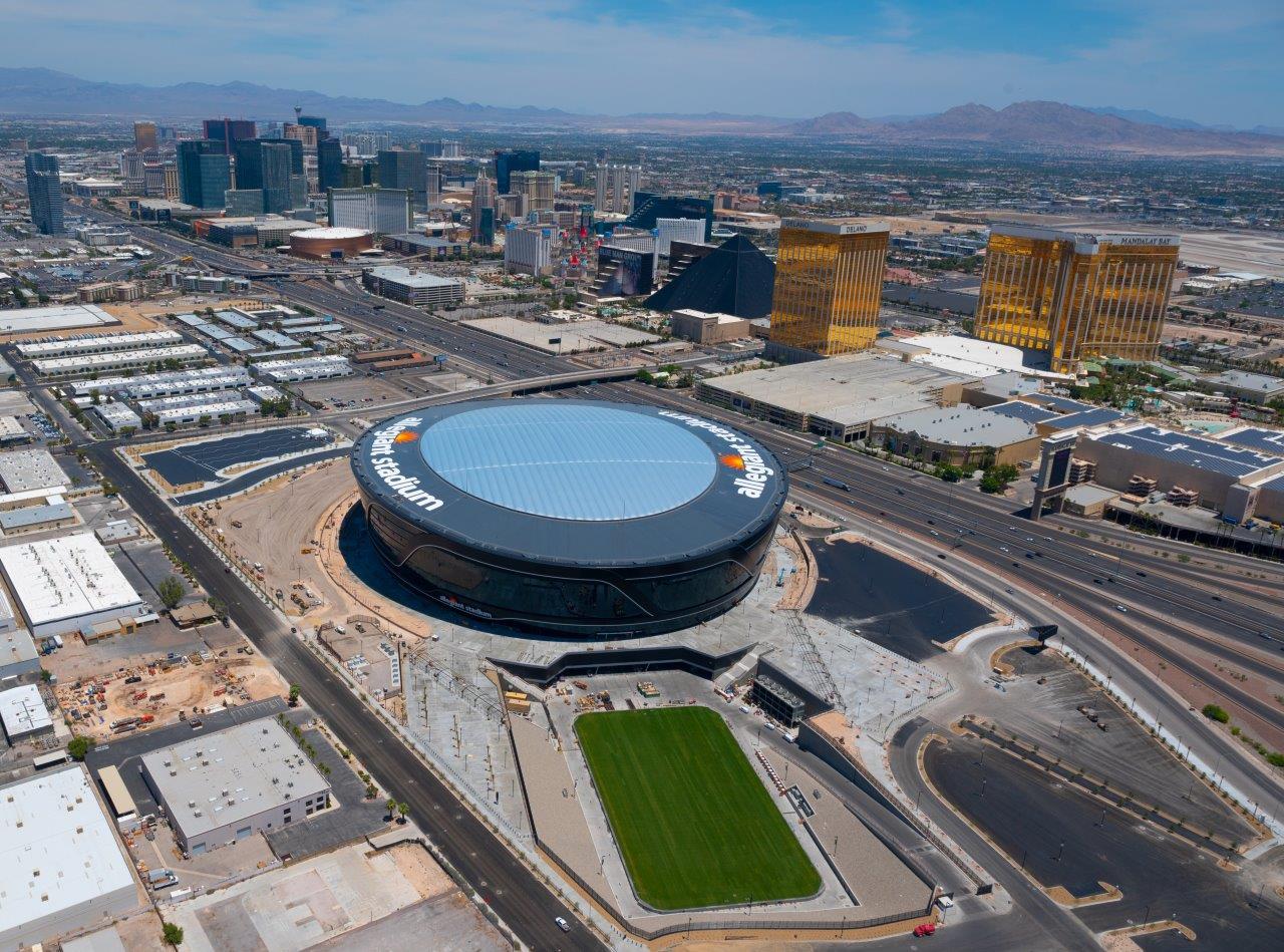 Aerial Views Of Raiders Stadium From Tom Donoghue Lvsportsbiz